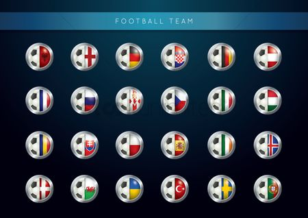 Belgium : Set of football teams