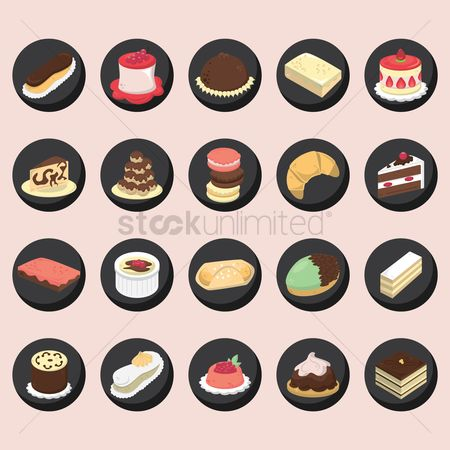 Confectionery : Set of french pastries