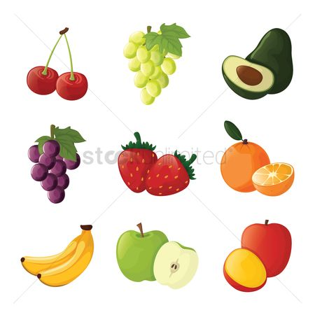 Slices : Set of fruit icons