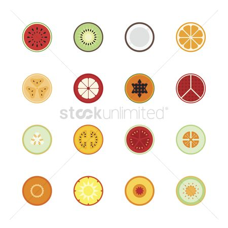 Flavor : Set of fruit icons