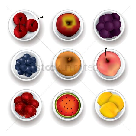 Blueberry : Set of fruits