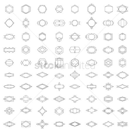 Geometrics : Set of geometric frames and badges