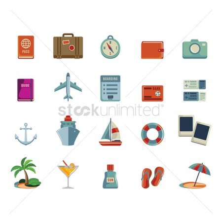 Nautical : Set of holiday icons