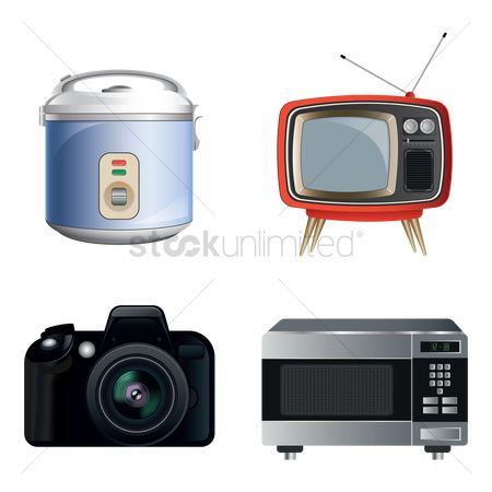 Appliance : Set of home appliances