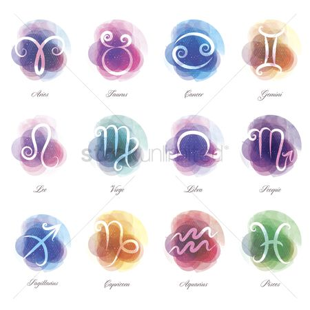 Character : Set of horoscope icons