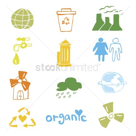 Earth  graphic vector : Set of illustrated icons