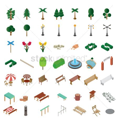 Signages : Set of isometric icons