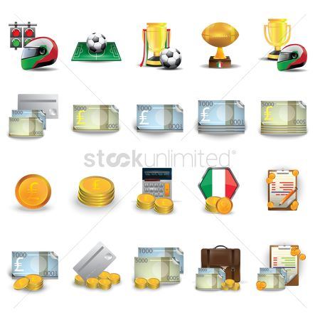 Race : Set of italian icons