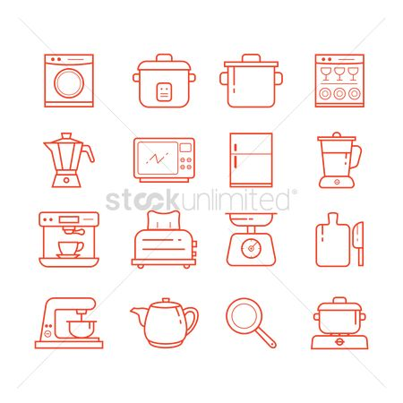 Teapot : Set of kitchen icons