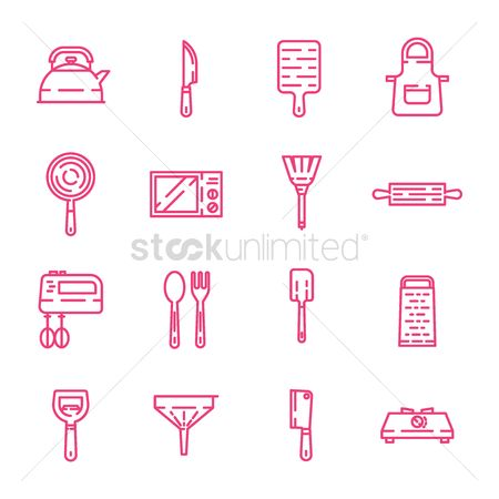 Cook : Set of kitchen icons