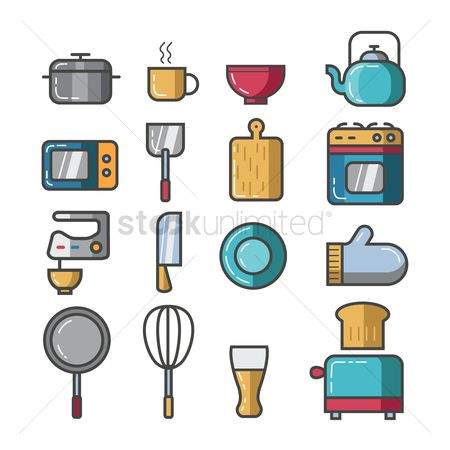 Appliance : Set of kitchen icons