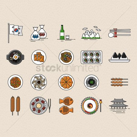 Hotcake : Set of korea icons