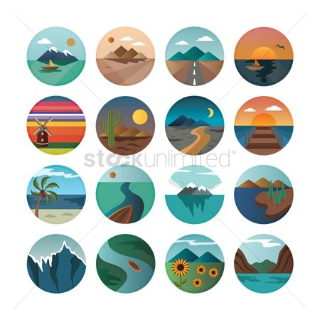 Mountain : Set of landscapes