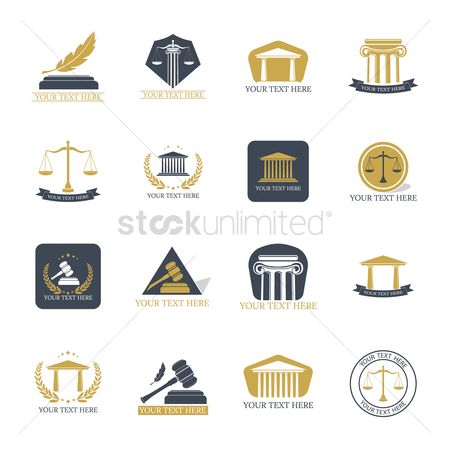 Logo : Set of law design icons