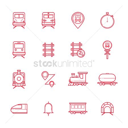 Signages : Set of locomotive icons