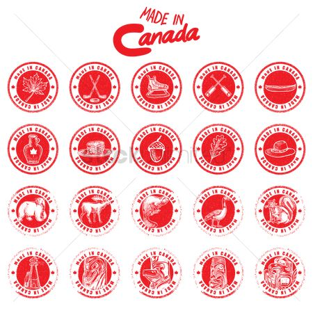 Lighthouses : Set of made in canada labels