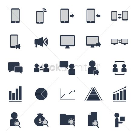 Currencies : Set of marketing icons