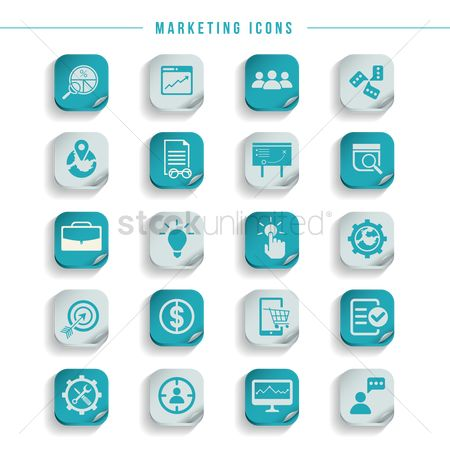 Comment : Set of marketing icons