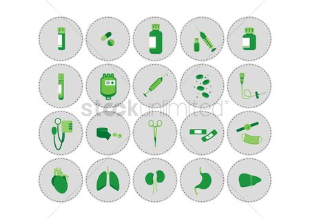 Cells : Set of medical icons
