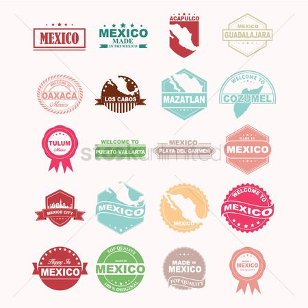 Mexicans : Set of mexico icons