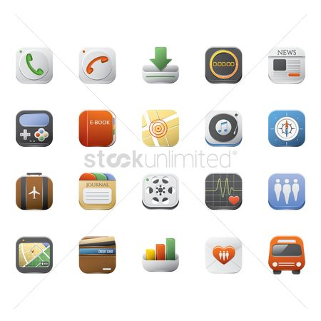 Call : Set of mobile application icons