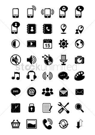 Mobiles : Set of mobile application icons