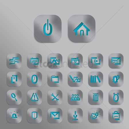 Shutters : Set of mobile icons