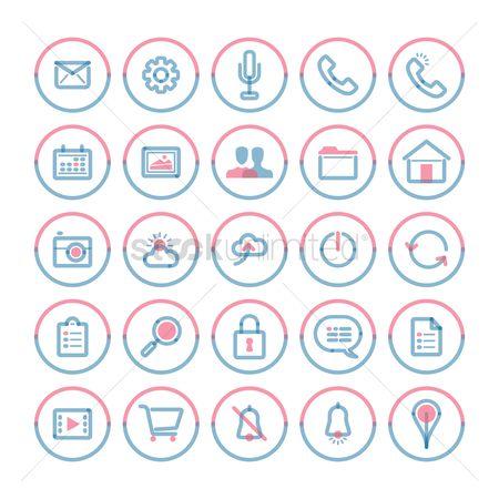 Mics : Set of mobile icons