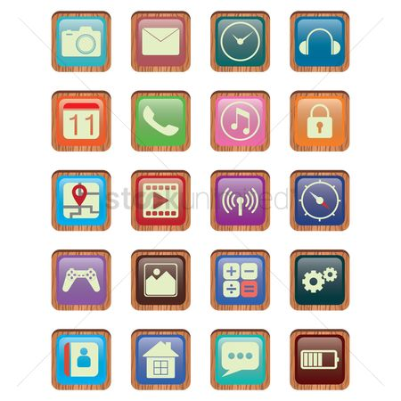 Main : Set of mobile icons