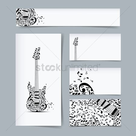 Melody : Set of music designs