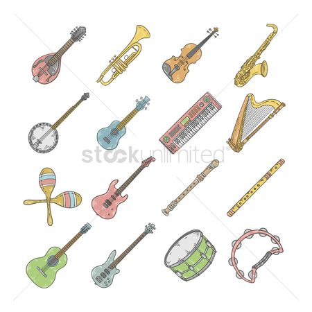 Brass : Set of musical instruments