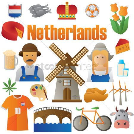 Soccer : Set of netherlands icons