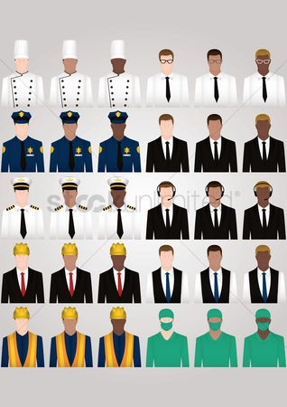 Surgeons : Set of occupation icons