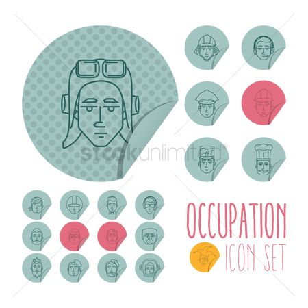 Priest : Set of occupation icons