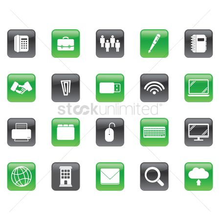 Business deal : Set of office icons