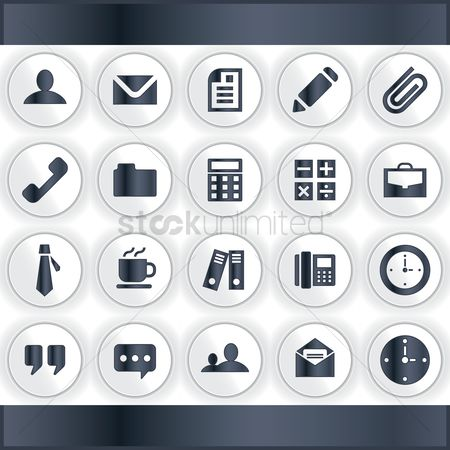 Receivers : Set of office icons