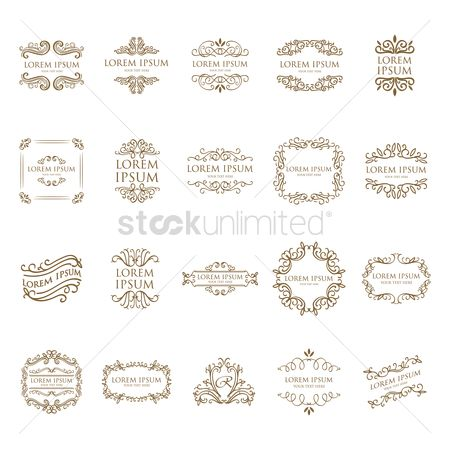 Borders : Set of ornamental designs