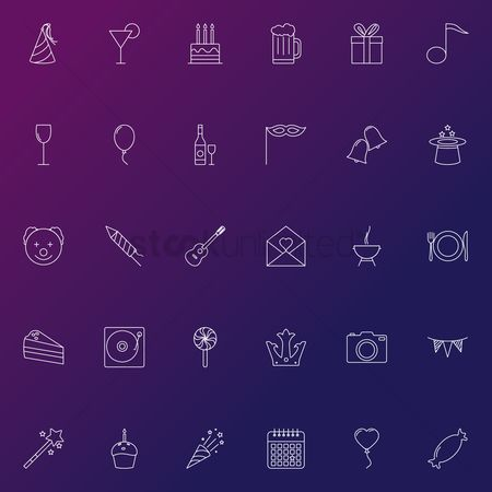 Teddybear : Set of party icons