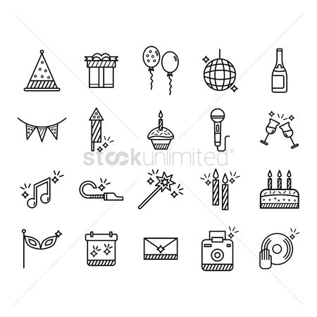 Microphones : Set of party icons