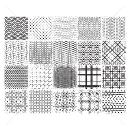 Wallpaper : Set of pattern backgrounds