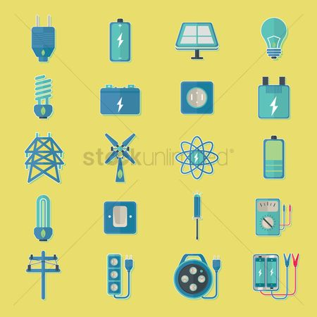 Nuclear : Set of power generating icons