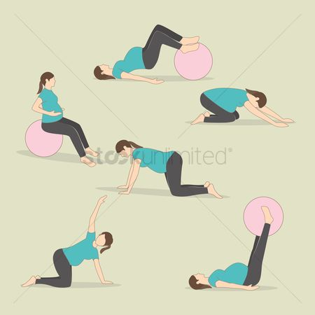 Health cares : Set of pregnancy exercises