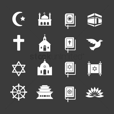 Christian : Set of religion icons