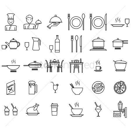 Stove : Set of restaurant icons