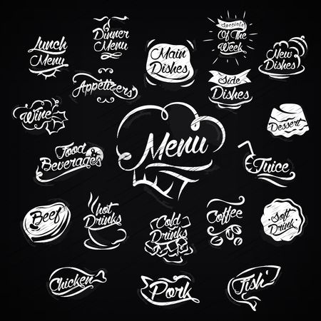 Main : Set of restaurant menu