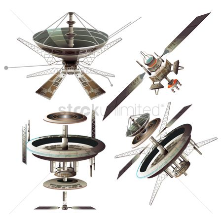 Dishes : Set of satellites