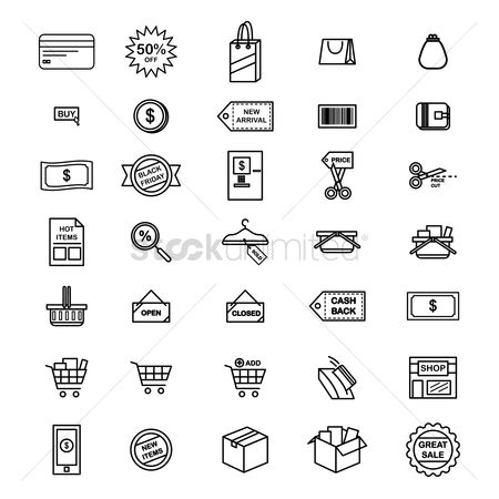 Shopping cart : Set of shopping icons