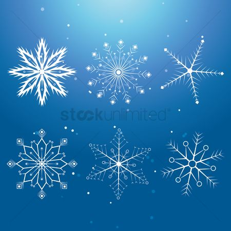 Temperatures : Set of snowflakes