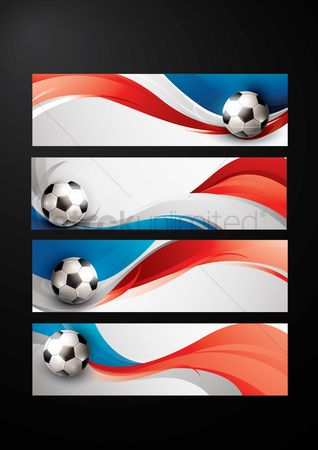 Soccer : Set of soccer banners with france flag