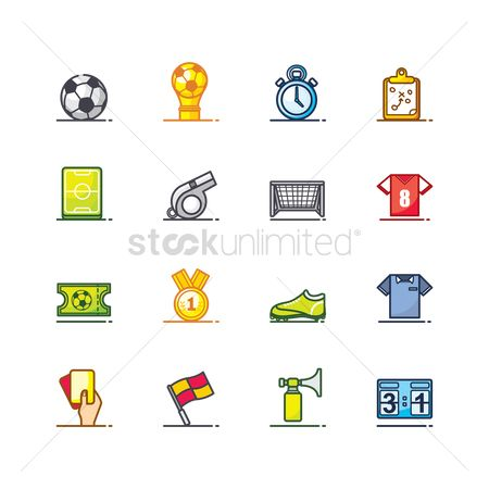 Footballs : Set of soccer icons